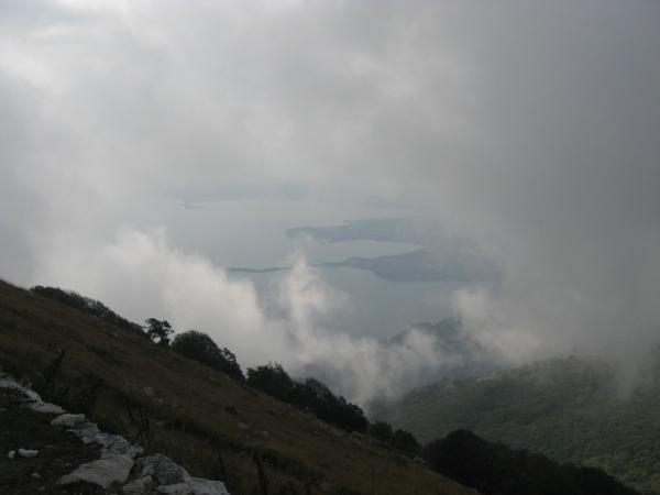 Panorama dalla vetta sul lago