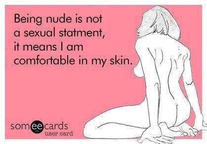 Essere nudi non è...