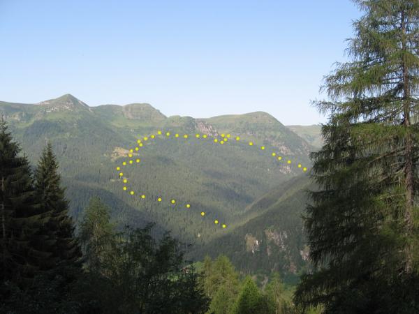 Panoramica dell'itinerario (Foto Emanuele Cinelli)