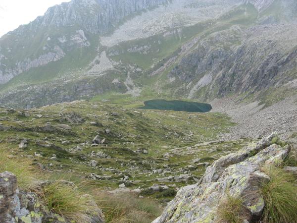 Il Lago di Bos dal Passo Blisie