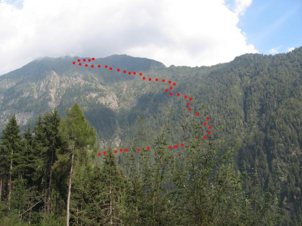 La parte di salita del percorso (Foto E. Cinelli)