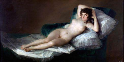 Goya La Maja desnuda. Da: Wikipedia