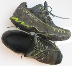 Le scarpe usate in precedenza