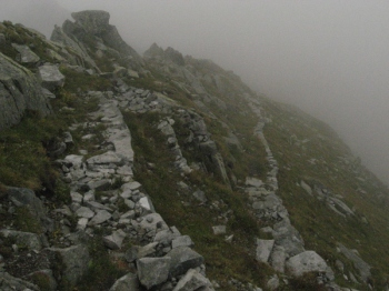 Inizio discesa dal Monte Listino