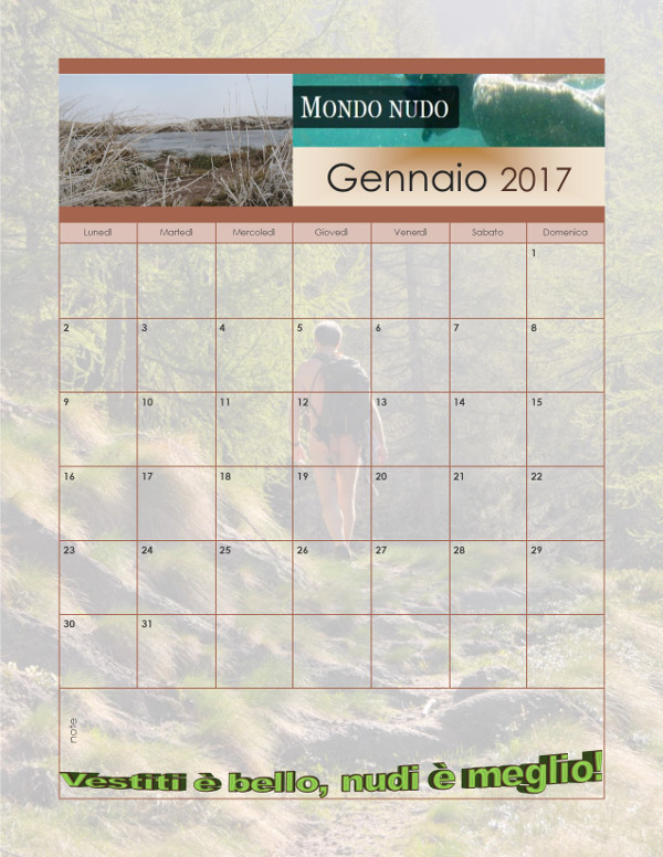 Scarica il calendario