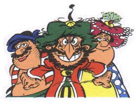 I protagonisti del fumetto di  René Goscinny