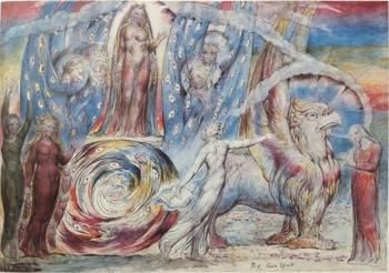 William Blake, Beatrice si rivolge a Dante da un carro (1824- Londra, Tate Britain)