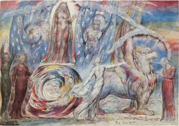 William Blake, Beatrice si rivolge a Dante da un carro (1824- Londra, Tate Britain)